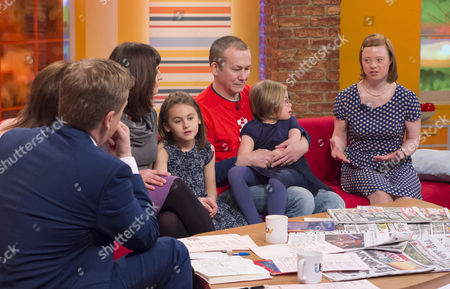 Aled Jones and Lorraine Kelly with Agata and Nigel Fuller with Twins - Viola and Nigella and Sarah Gordy