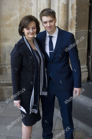 Stock Photo of Cherie Blair and Euan Blair