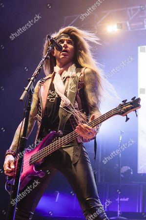 Editorial image of Steel Panther in concert at the Civic Hall, Wolverhampton, Britain - 15 Mar 2014