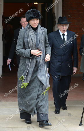 Emma Thompson Leaves The Church After Richard Briers Funeral At St.michael And All Angels Church Chiswick London 06.03.13.