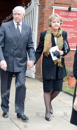Penelope Keith Leaves The Church After Richard Briers Funeral At St.michael And All Angels Church Chiswick London 06.03.13.