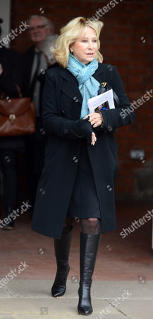 Felicity Kendal Leaves The Church After Richard Briers Funeral At St.michael And All Angels Church Chiswick London 06.03.13.