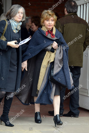 Prunella Scales After The Service At Richard Briers Funeral At St.michael And All Angels Church Chiswick London.