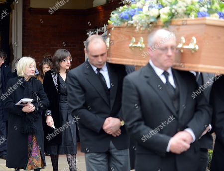 Annie Briers After The Service At Her Late Husband Actor Richard Briers Funeral At St.michael And All Angels Church Chiswick London.