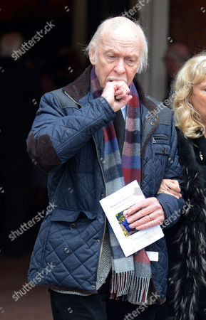 Editorial photo of Actor Brian Murphy After The Service At Actor Richard Briers Funeral At St.michael And All Angels Church Chiswick London.