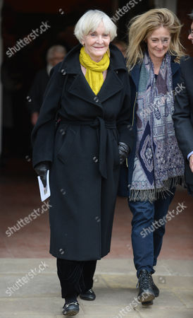 Stock Picture of Actress Sheila Hancock Leaves The Church After Actor Richard Briers Funeral At St.michael And All Angels Church Chiswick London.