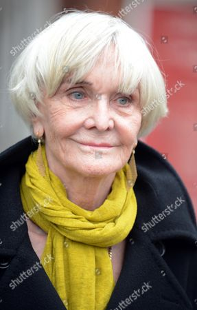 Editorial image of Actress Sheila Hancock Leaves The Church After Actor Richard Briers Funeral At St.michael And All Angels Church Chiswick London.