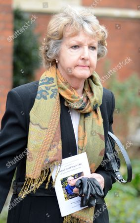 Actress Penelope Keith Leaves The Church After Actor Richard Briers Funeral At St.michael And All Angels Church Chiswick London.
