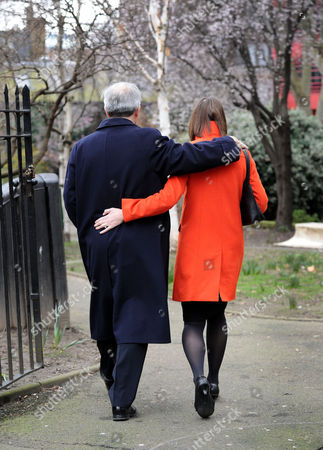 London. Chris Huhne And His Partner Carina Trimingham Leave Their Flat In Old Street On The Way To Southwark Crown Court Where Mr Huhne Is Being Sentenced This Afternoon.  .