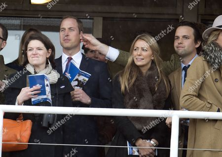 Cheltenham Festival 2013 Day. 4 Prince William Has His Ear Pinched By Harry Aubrey-fletcher. The Duke And Duchess Of Cambridge Watch The First Race At The Cheltenham Festival 15.03.13.
