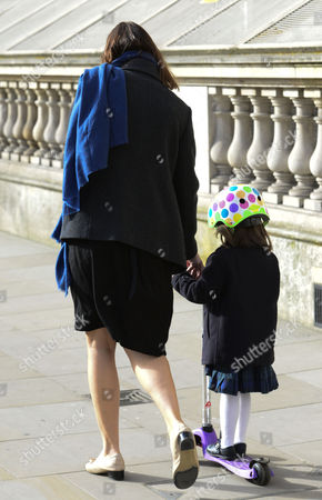 Samantha Cameron taking daughter Florence Cameron to nursery school