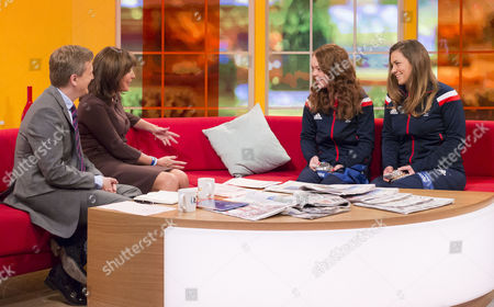 Aled Jones and Lorraine Kelly with Jade Etherington and Caroline Powell