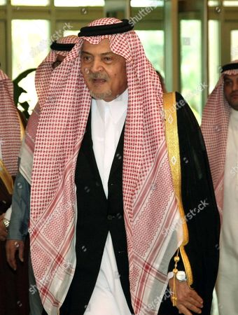 Saudian Foreign Minister Prince Saud al-Faisal arrives at the Riadh Conference Palace