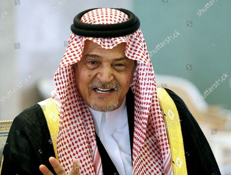 Saudian Foreign Minister Prince Saud al-Faisal at the Riadh Conference Palace