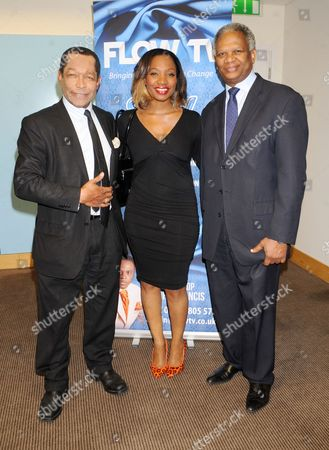 Stock Photo of Lord Taylor of Warwick, Rene Byrd and Richard Taylor