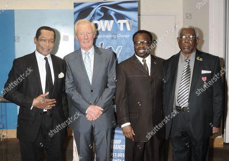Lord Taylor of Warwick, Cecil Stewart OBE, Bishop John Francis and Lloyd Leon MBE