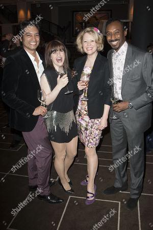 Raj Ghatak, Jemima Rooper (Elvira), Melissa Woodbridge (Understudy Elvira/Edith) and Nolan Frederick