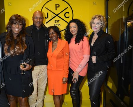 Mica Paris, Colin Salmon, Theresa Roberts, guest, Fiona Hawthorne