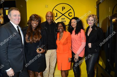 Andrew Roberts, Mica Paris, Colin Salmon, Theresa Roberts, guest, Fiona Hawthorne