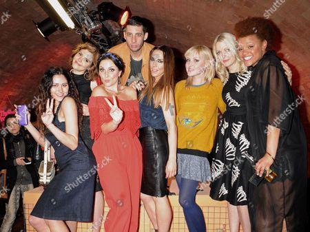 Eliza Doolittle, Georgia LA, Laura Dockrill, Example, Melanie Chisholm, Kris Hallinger, Lauren Laverne and Gemma Cairney