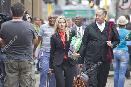 Roxanne Adams and Kenny Oldwage arrive at the Pretoria High Court