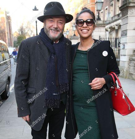 George Galloway and wife Putri Gayatri Pertiwi at Lincoln's Inn Fields