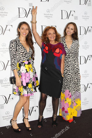 Editorial photo of Diane von Furstenberg show, Autumn Winter 2014, Mercedes Benz Fashion Week, Tokyo, Japan - 20 Mar 2014