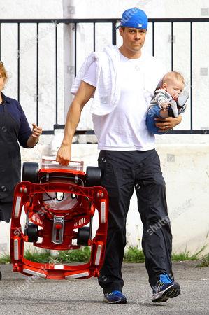 Josh Duhamel with son Axl Jack Duhamel