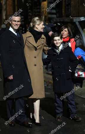 Editorial picture of 'Gotham' TV show on set filming, New York, America - 20 Mar 2014