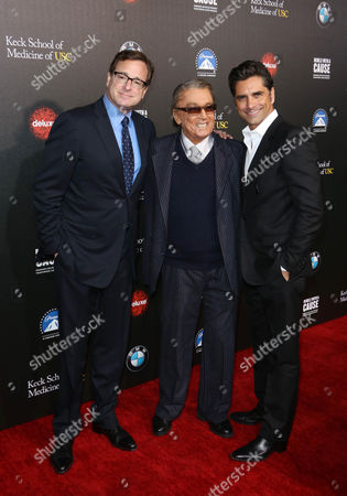Bob Saget, Robert Evans and John Stamos