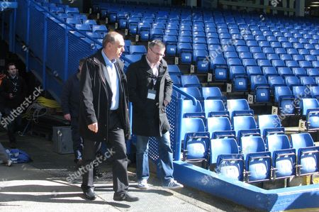 Former Chelsea manager Avram Grant arrives at the match