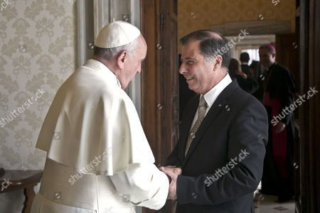 Pope Francis I meets with President of Malta George Abela