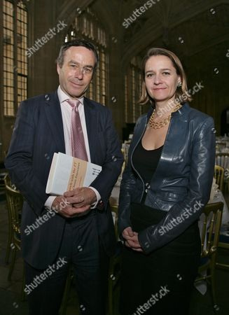 Lionel Barber Editor of The Financial Times and Lucy Kellaway