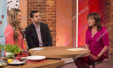 Celia Walden and Mehdi Hasan with Presenter Lorraine Kelly