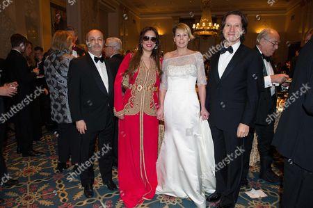 Kitin Munoz and Princess Kalina of Bulgaria with Fadel Benyaich and his wife