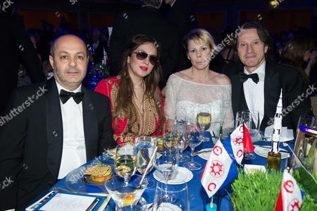 Kitin Munoz awith his wife Princess Kalina of Bulgaria with Fadel Benyaich and his wife