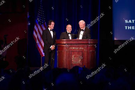 Explorers Club President Alan Nichols, Kitin Munoz and Fadel Benyaich