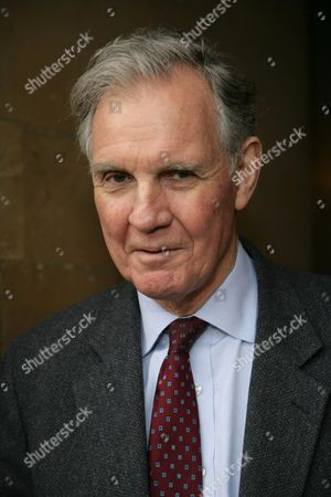Stock Photo of Jonathan Aitken promoting his book Margaret Thatcher: Power & Personality