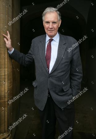 Stock Image of Jonathan Aitken promoting his book Margaret Thatcher: Power & Personality