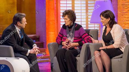 Alan Titchmarsh, Philomena Lee and daughter Jane Libberton