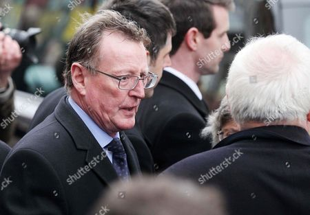 Stock Photo of David Trimble outside the Cathedral