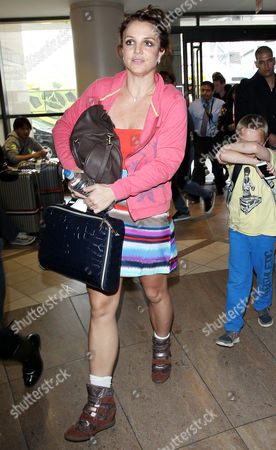 Editorial image of Britney Spears at LAX airport, Los Angeles, America - 24 Mar 2014
