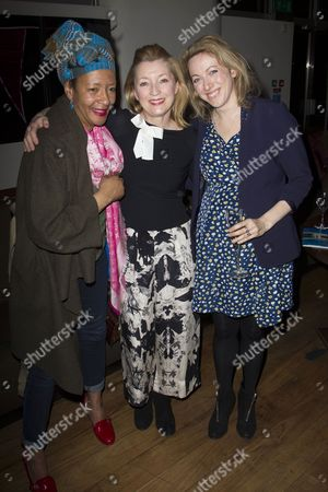 Stock Photo of Leila Bertrand, Lesley Manville and Clare Lawrence