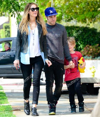 Pete Wentz and son Bronx with Meagan Camper