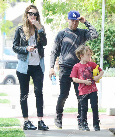 Editorial picture of Pete Wentz and son Bronx with Megan Camper out and about, Los Angeles, America - 24 Mar 2014