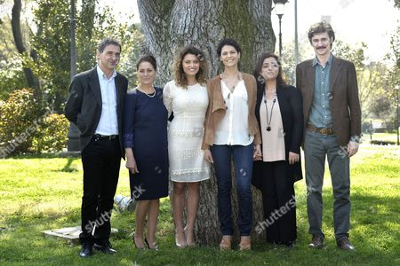 Director Edoardo Winspeare with cast : Gustavo Caputo, Anna Boccadamo, Laura Licchetta, Celeste Casciaro, Barbara De Matteis