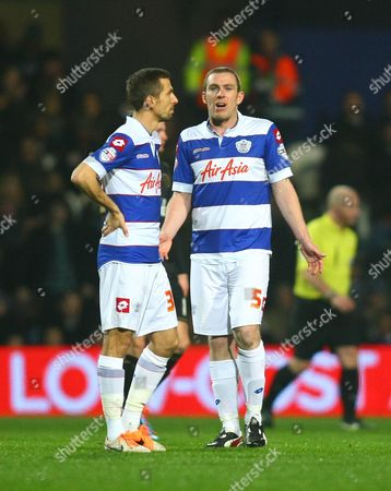 Queens Park Rangers' Richard Dunne and Queens Park Rangers' Gary O'Neil