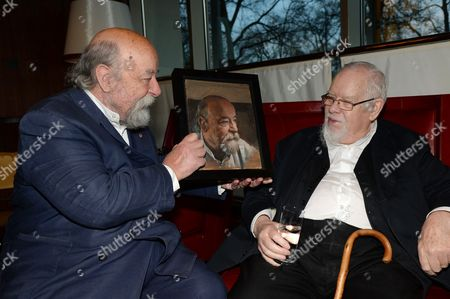 Sir Roy Ackerman and Sir Peter Blake