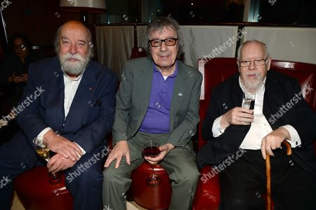 Sir Roy Ackerman, Bill Wyman and Sir Peter Blake