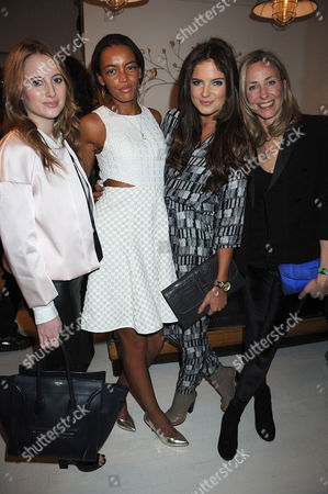 Rosie Fortescue, Phoebe Pring, Binky Felstead and Lucy Olivier